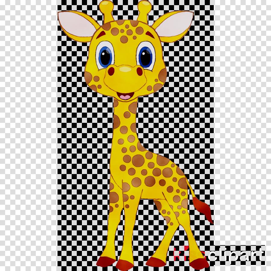 Giraffe clipart girrafe. Cartoon yellow wildlife