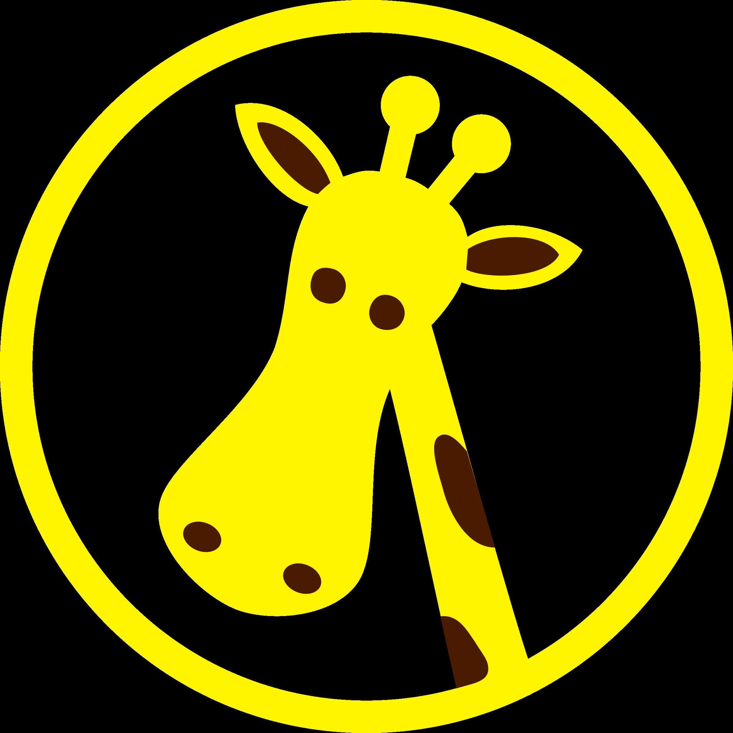 Giraffe clipart head. Big image png