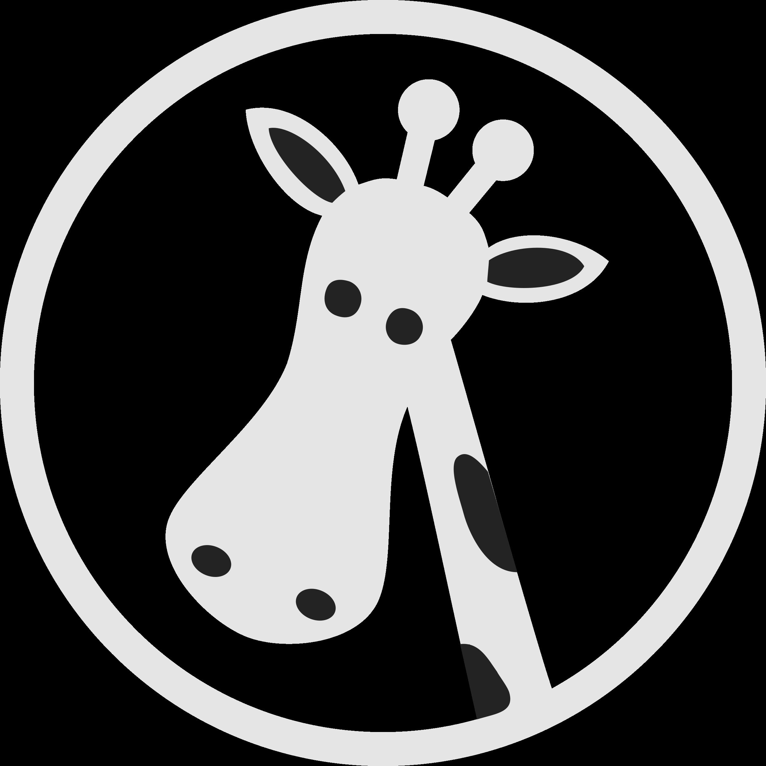 Clipart giraffe head. Clipartblack com animal free
