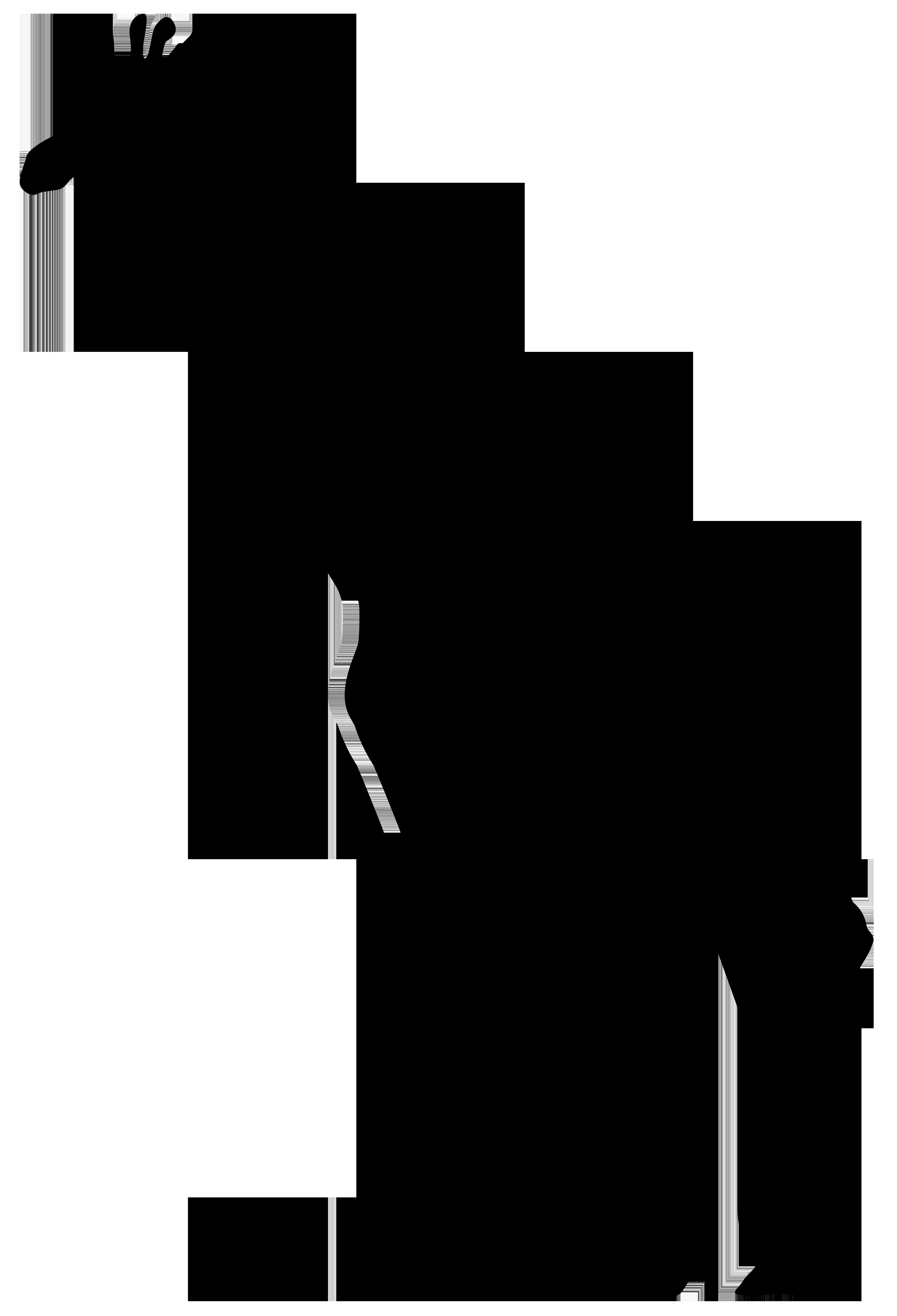 Giraffe png transparent clip. Hunter clipart silhouette