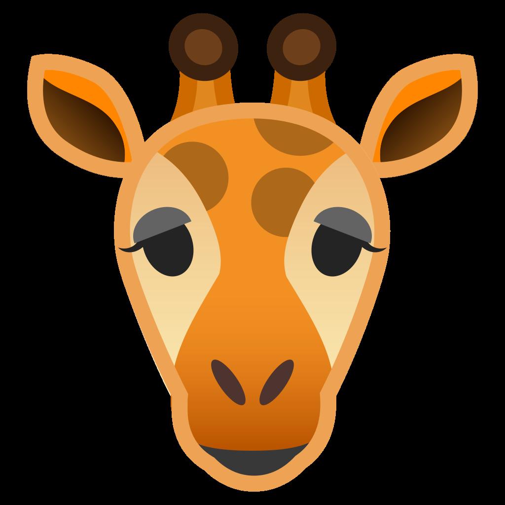 Noto emoji animals nature. Giraffe clipart icon
