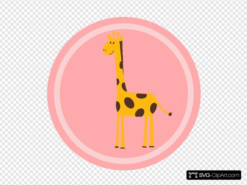 Giraffe clipart icon. Clip art and svg