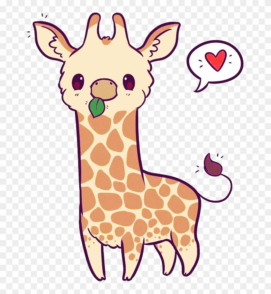 Heart chibi art naomilord. Giraffe clipart kawaii
