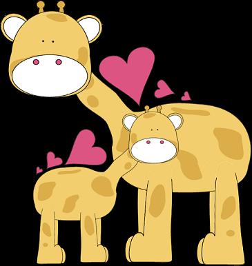 Clip art image library. Clipart giraffe love