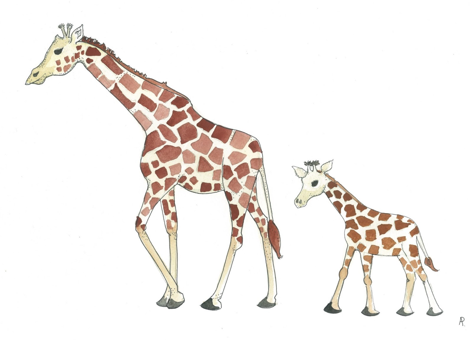 Mother and photo at. Giraffe clipart mom baby