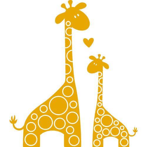 Giraffe clipart mom baby. Vinyl decal i love
