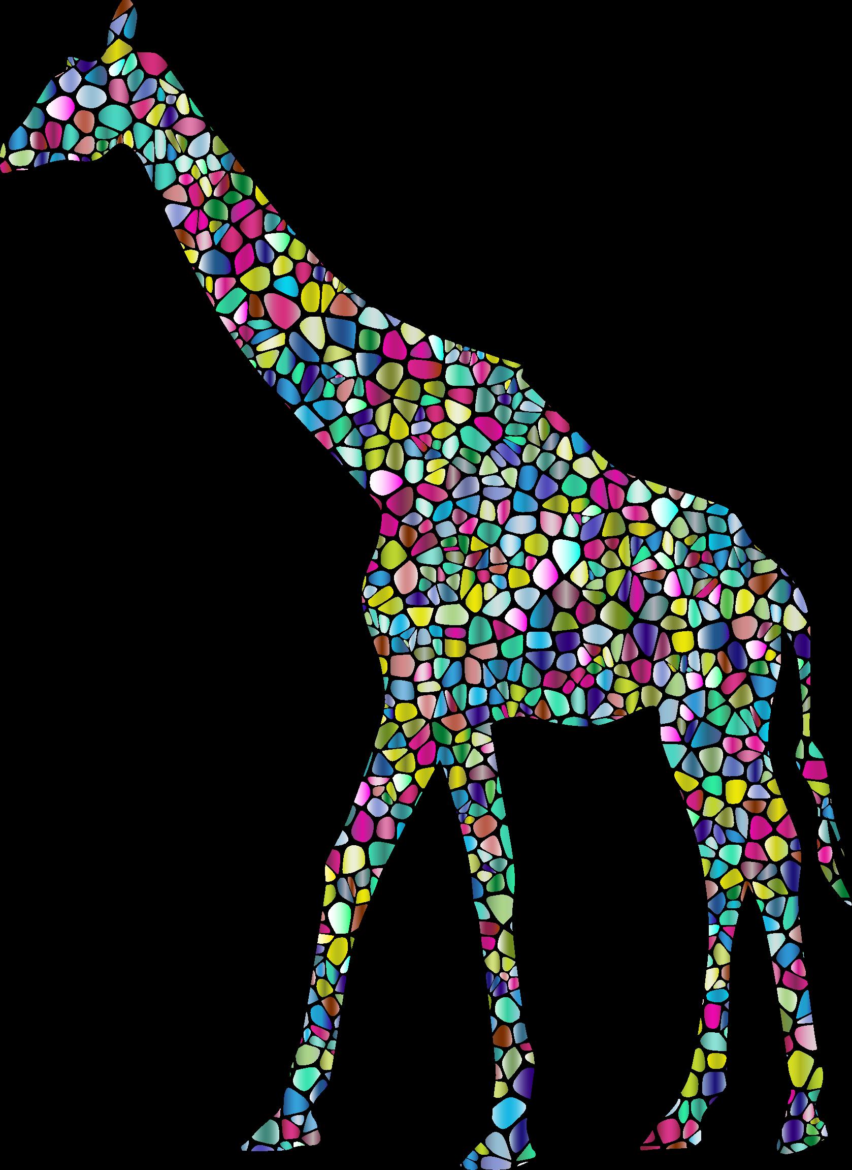 Neck clipart giraffe. Polyprismatic tiled landscape silhouette