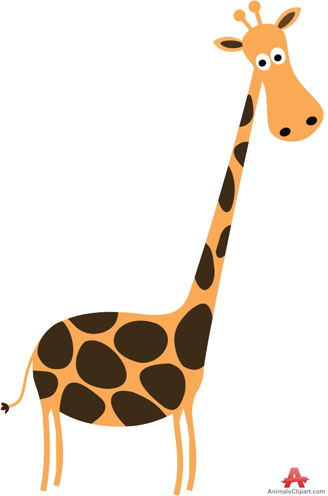 With long free design. Giraffe clipart neck