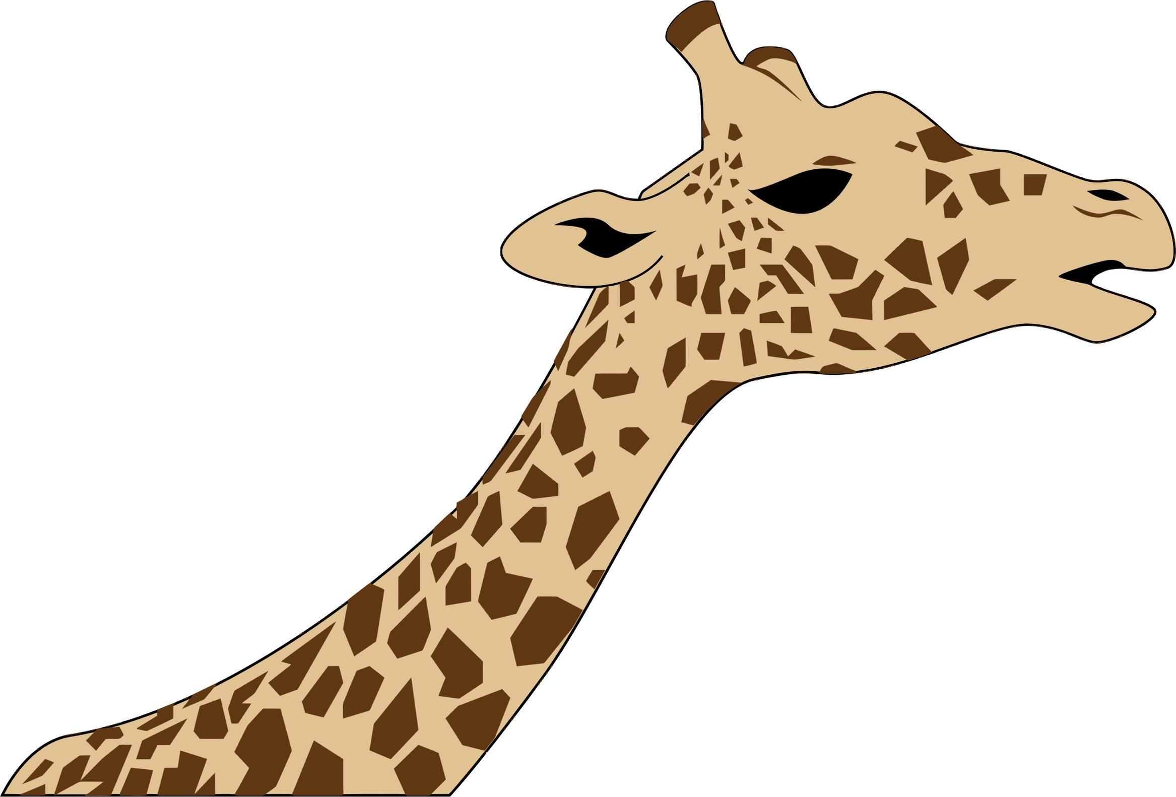 Giraffe clipart realistic.  collection of neck
