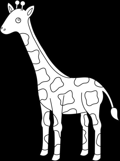 Giraffe clipart outline. Free cliparts download clip