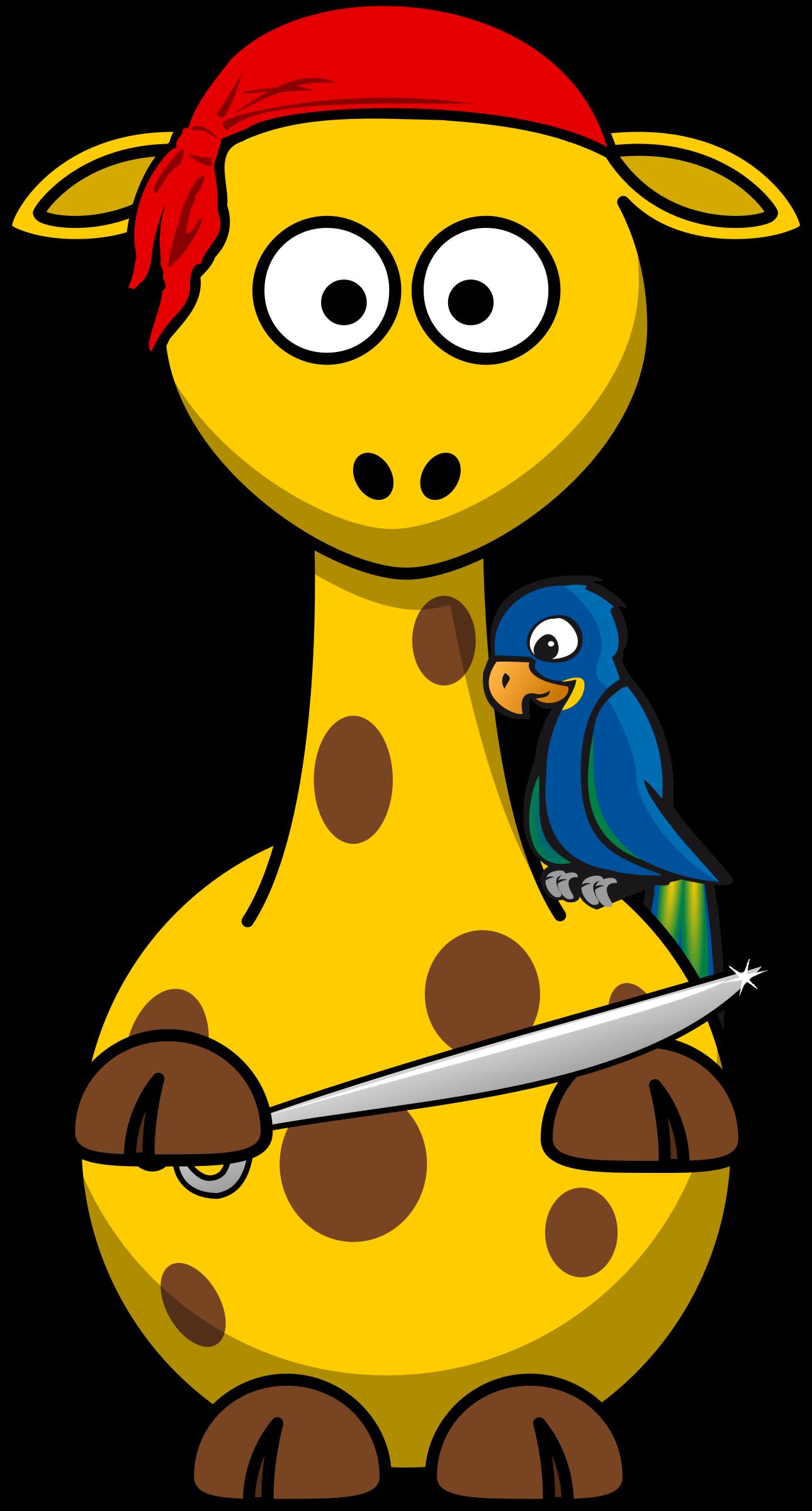 Giraffe clipart profile. Pirate big image png