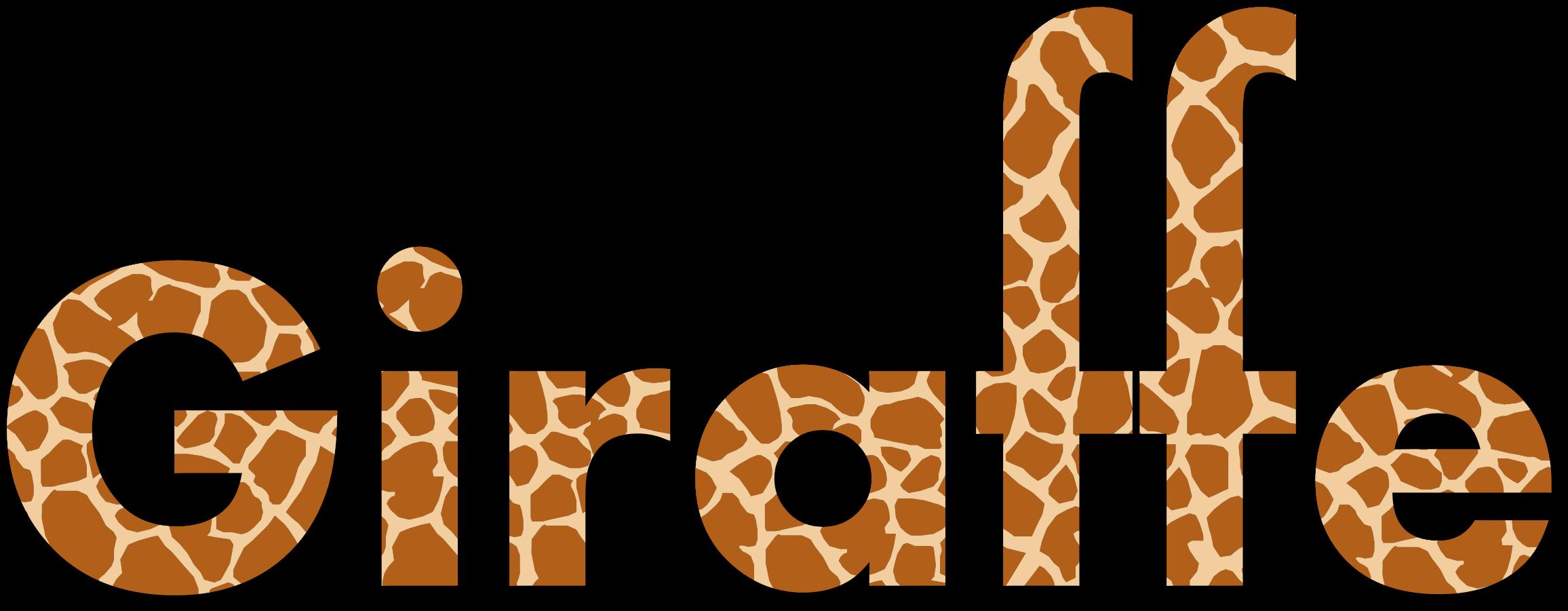 Giraffe clipart shadow. Typography with drop big