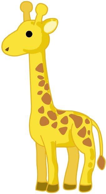Free cartoon download clip. Giraffe clipart side view