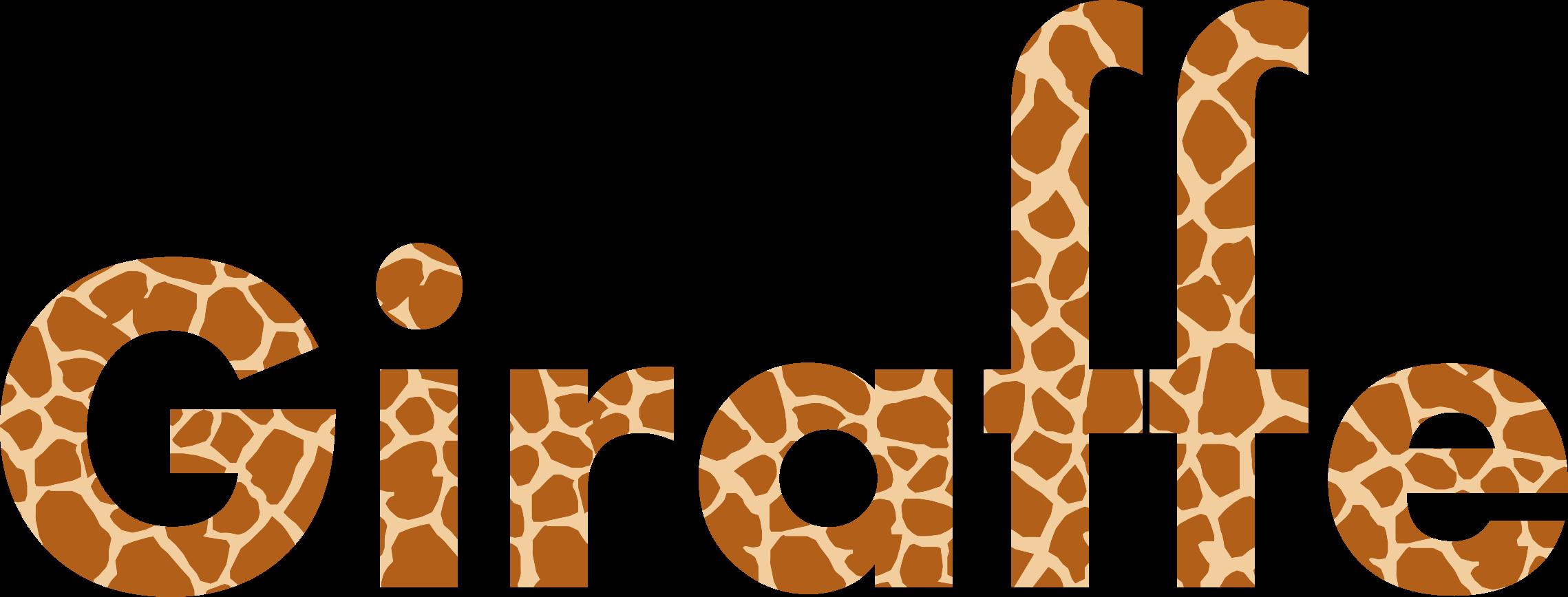 Typography big image png. Clipart giraffe skin