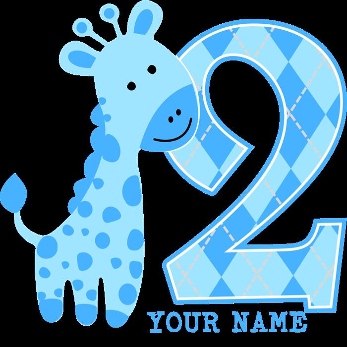 nd birthday blue. Clipart giraffe swimming
