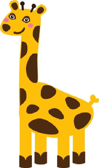 Image clip art library. Giraffe clipart tall thing
