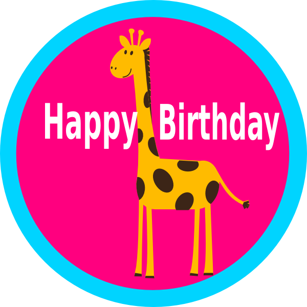 Giraffe clipart birthday. Cupcake topper clip art