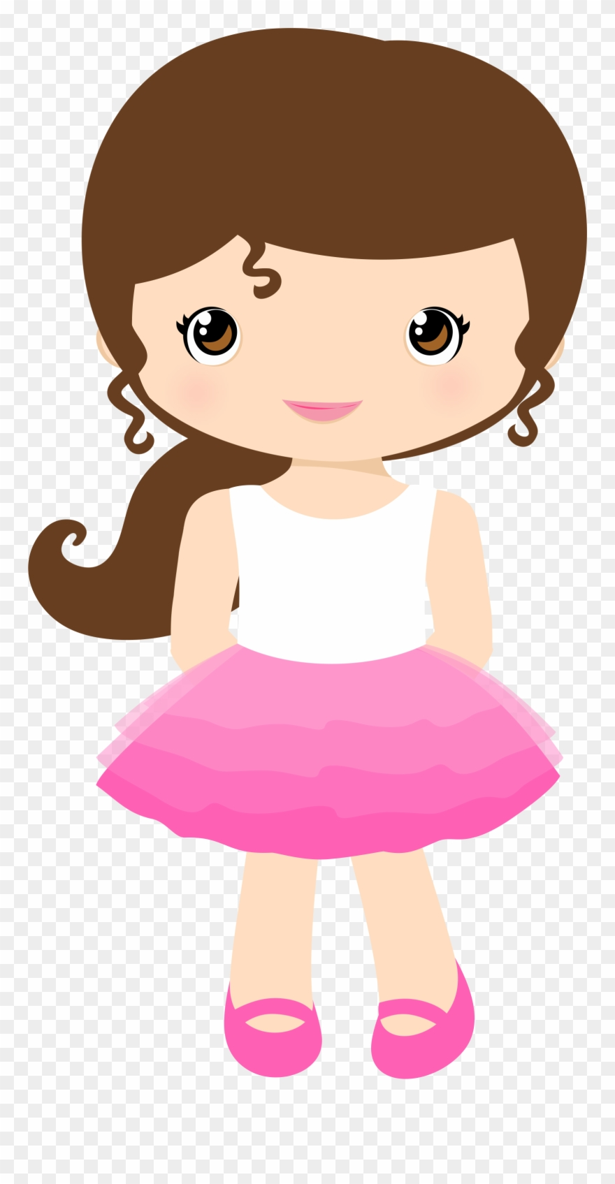 Girl cartoon cute little. Girls clipart animated