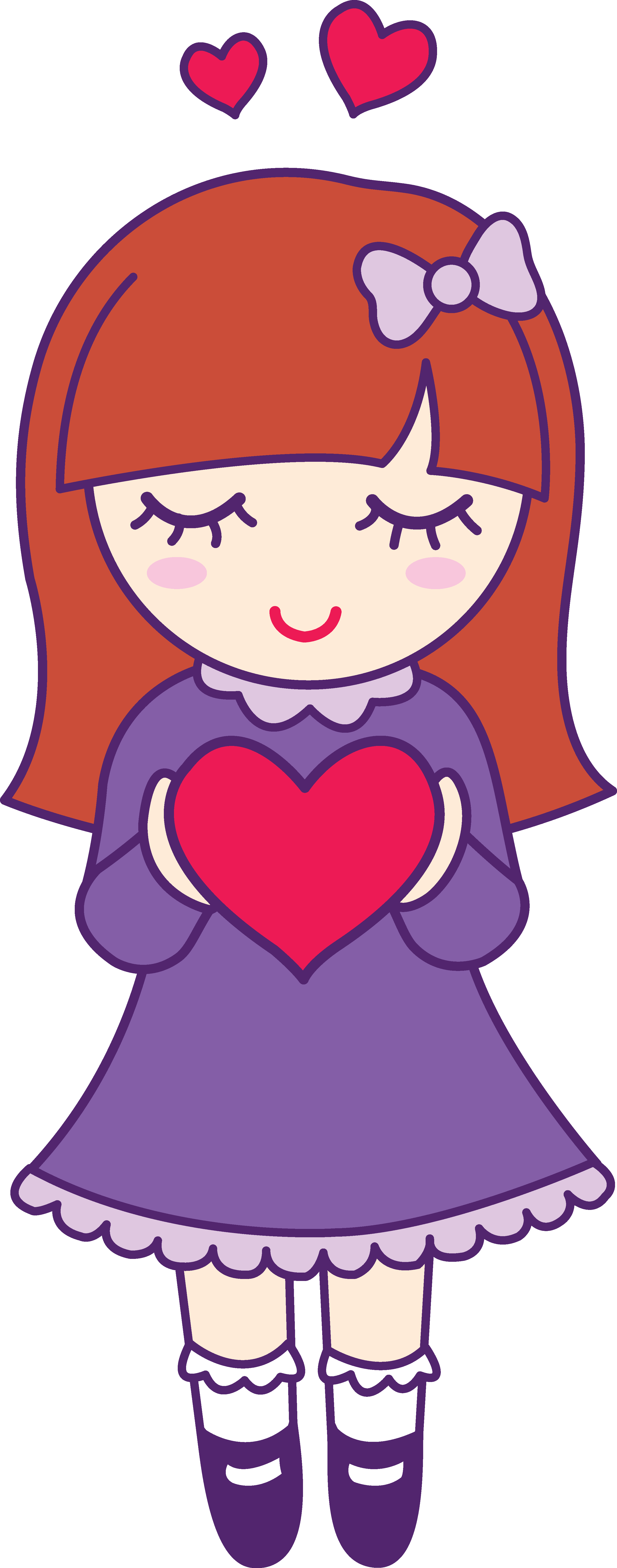 Valentine clipart cute. Girl panda free images