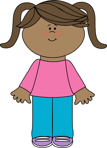 Attention clipart lady. Cute little girl yay