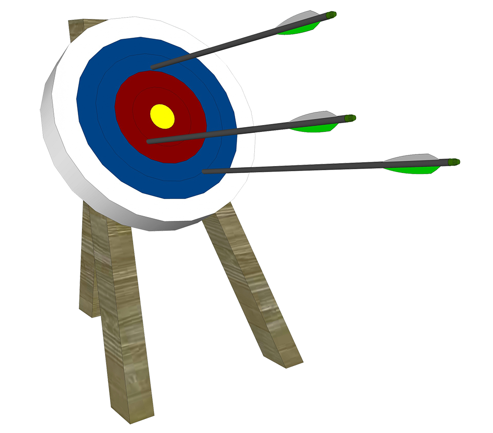 Different kinds of sports. Girl clipart archery