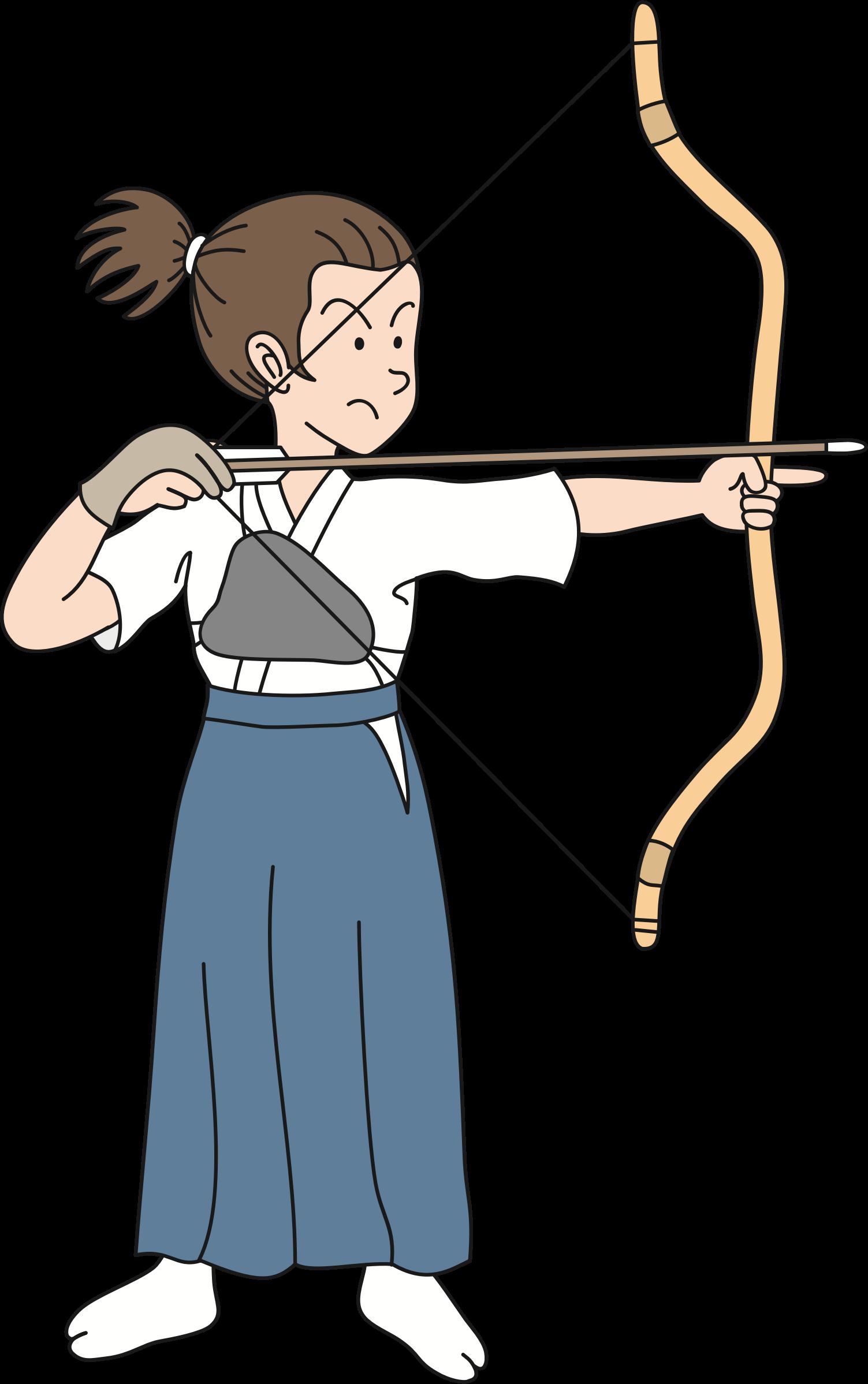 Clipart woman archery. Female archer big image