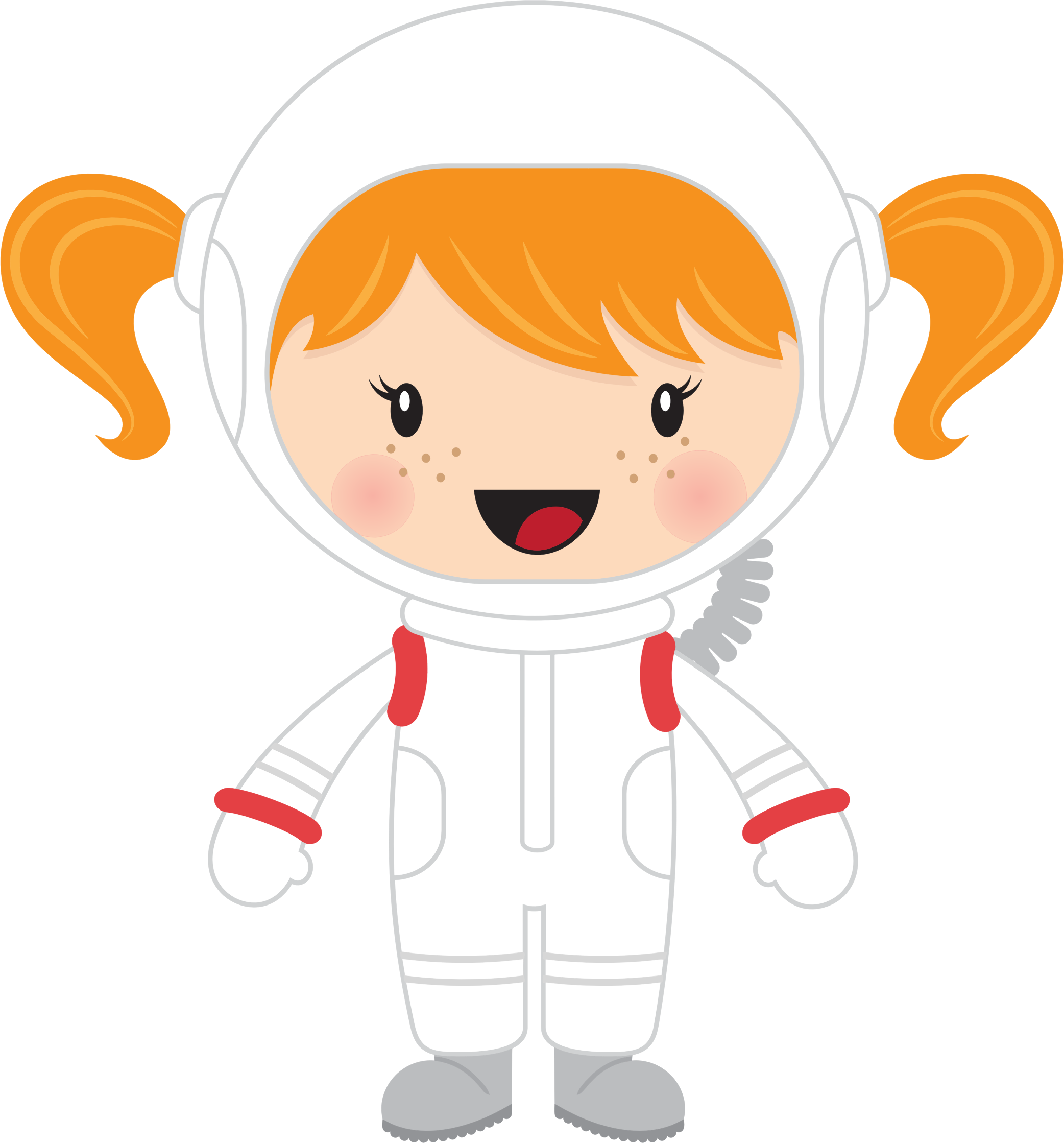 Galaxy clipart astronaut. Little girl big image