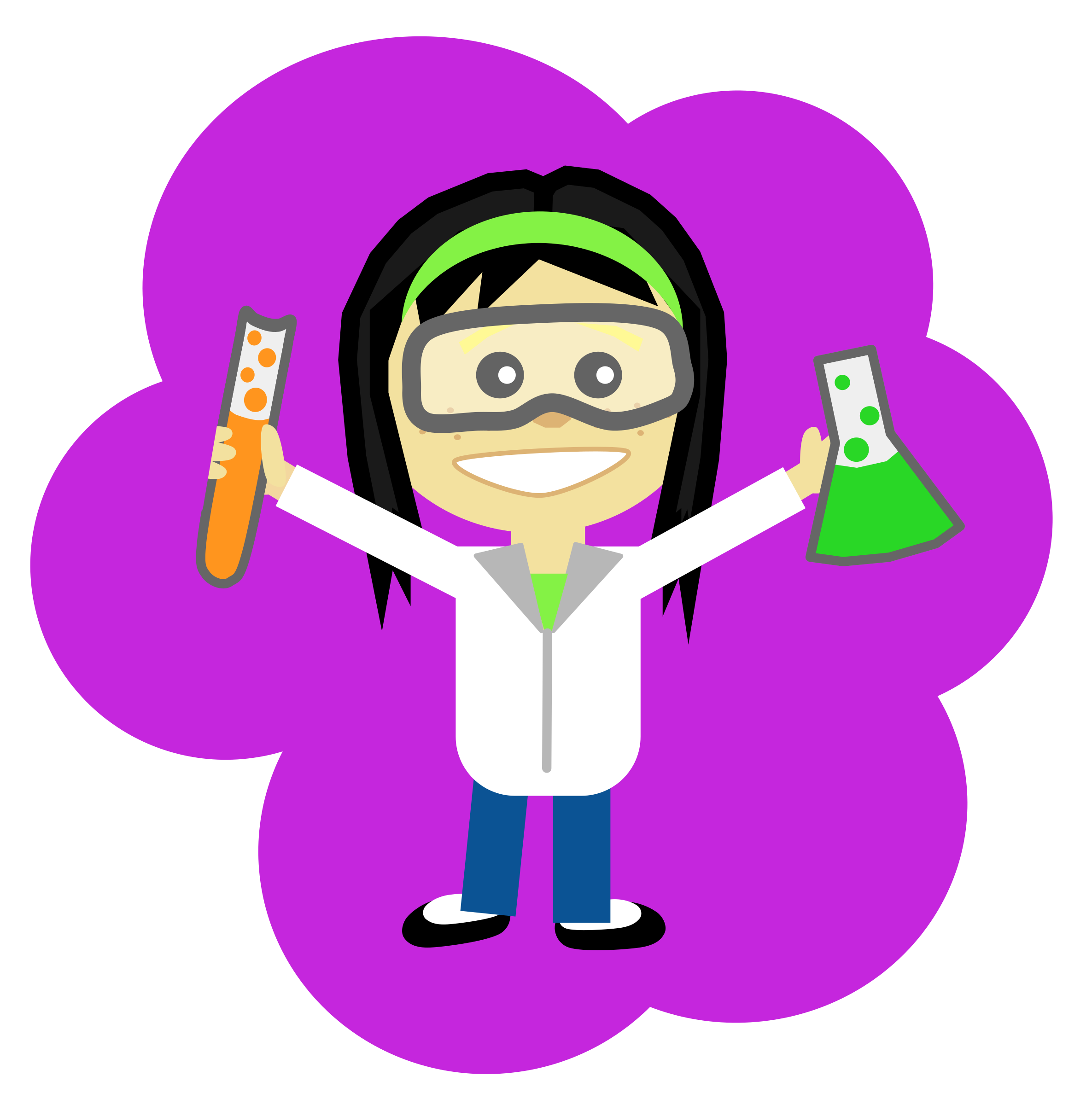 Science girl with black. Politics clipart political issue