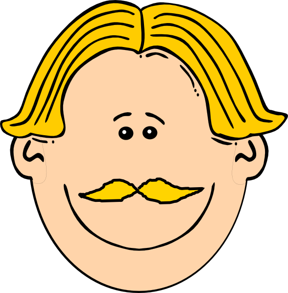 Clipart smile brown haired man. Smiling with blond hair