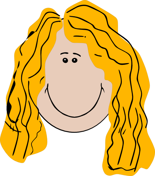 Girls clipart blonde hair.  collection of long