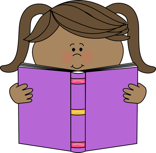 Clipart girl book. Free reading a download