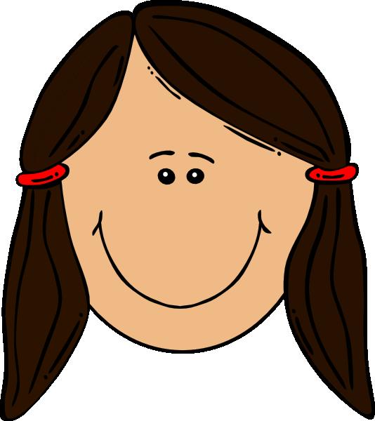 Girl clip art at. Girls clipart brown hair