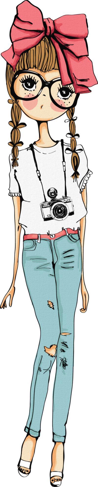 Vintage girl png by. Girls clipart camera