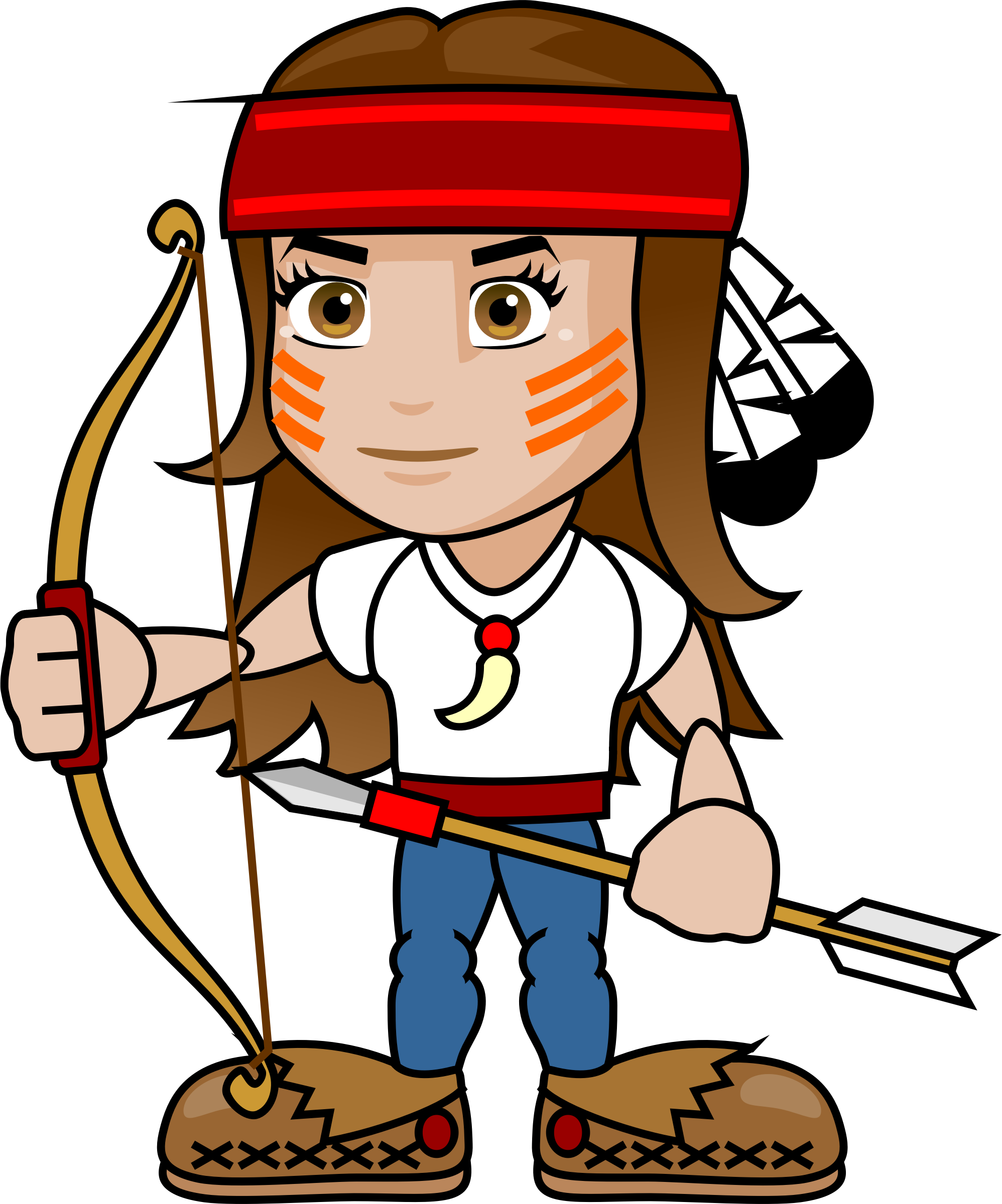 Girls clipart construction worker. Girl archer big image