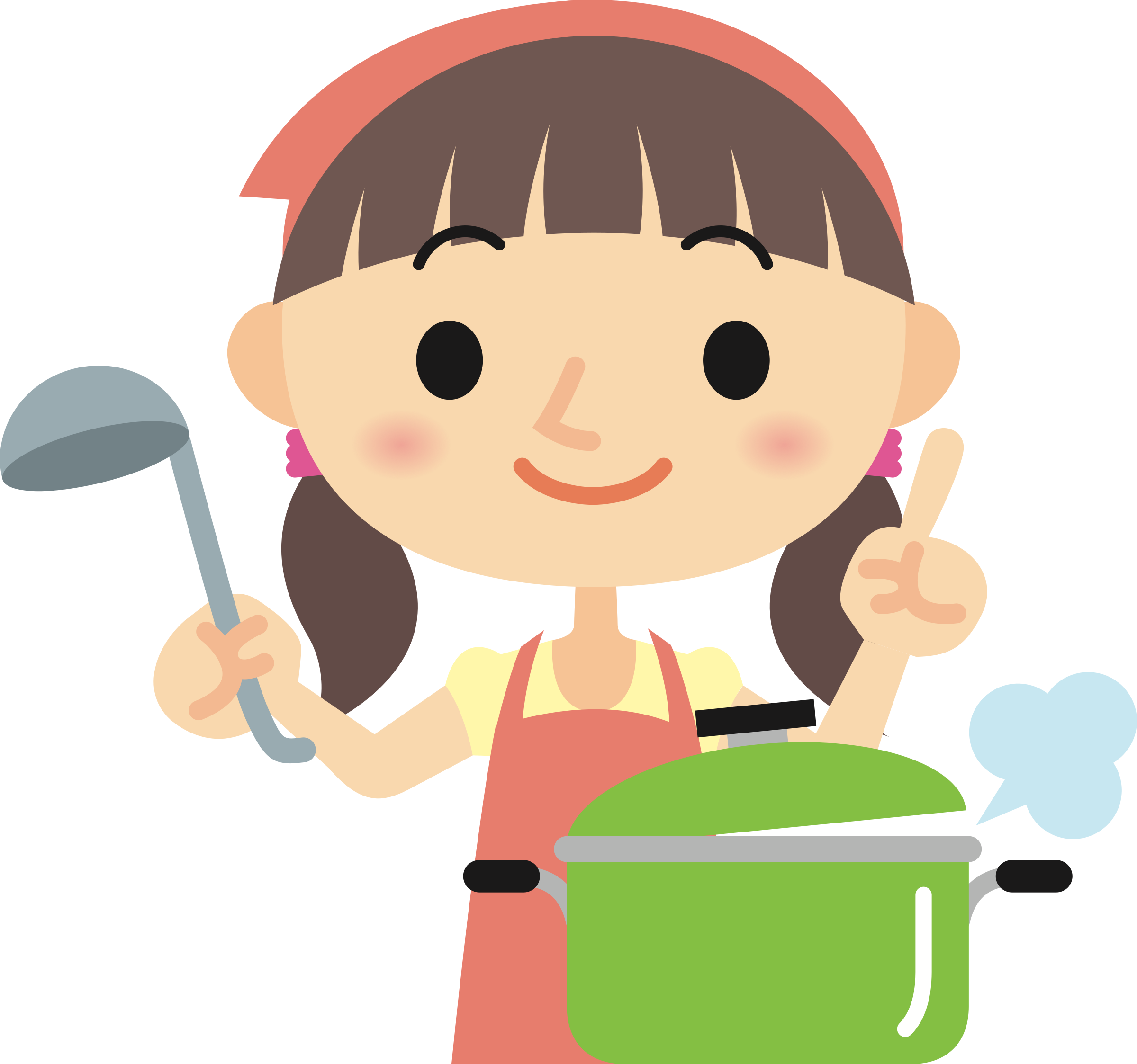 Cooking big image png. Clipart kitchen woman