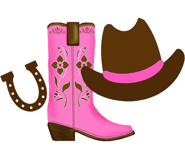 Hat clipart boot. Cowgirl with space on