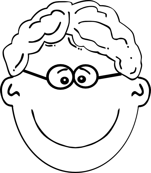 Girls clipart curly hair. Boy wavy glasses clip