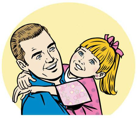 Father clipart come back. Free dad girl cliparts