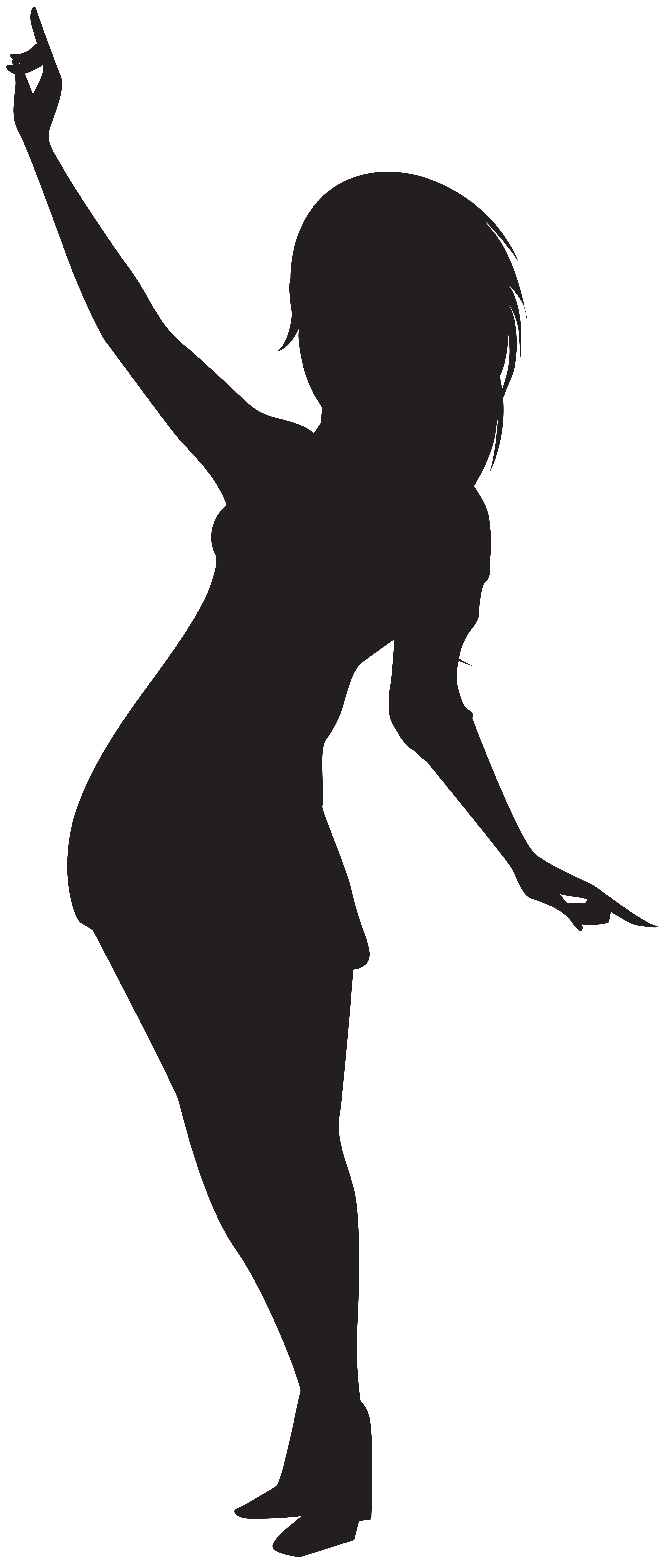 Dancing girl silhouette png. Lady clipart dance