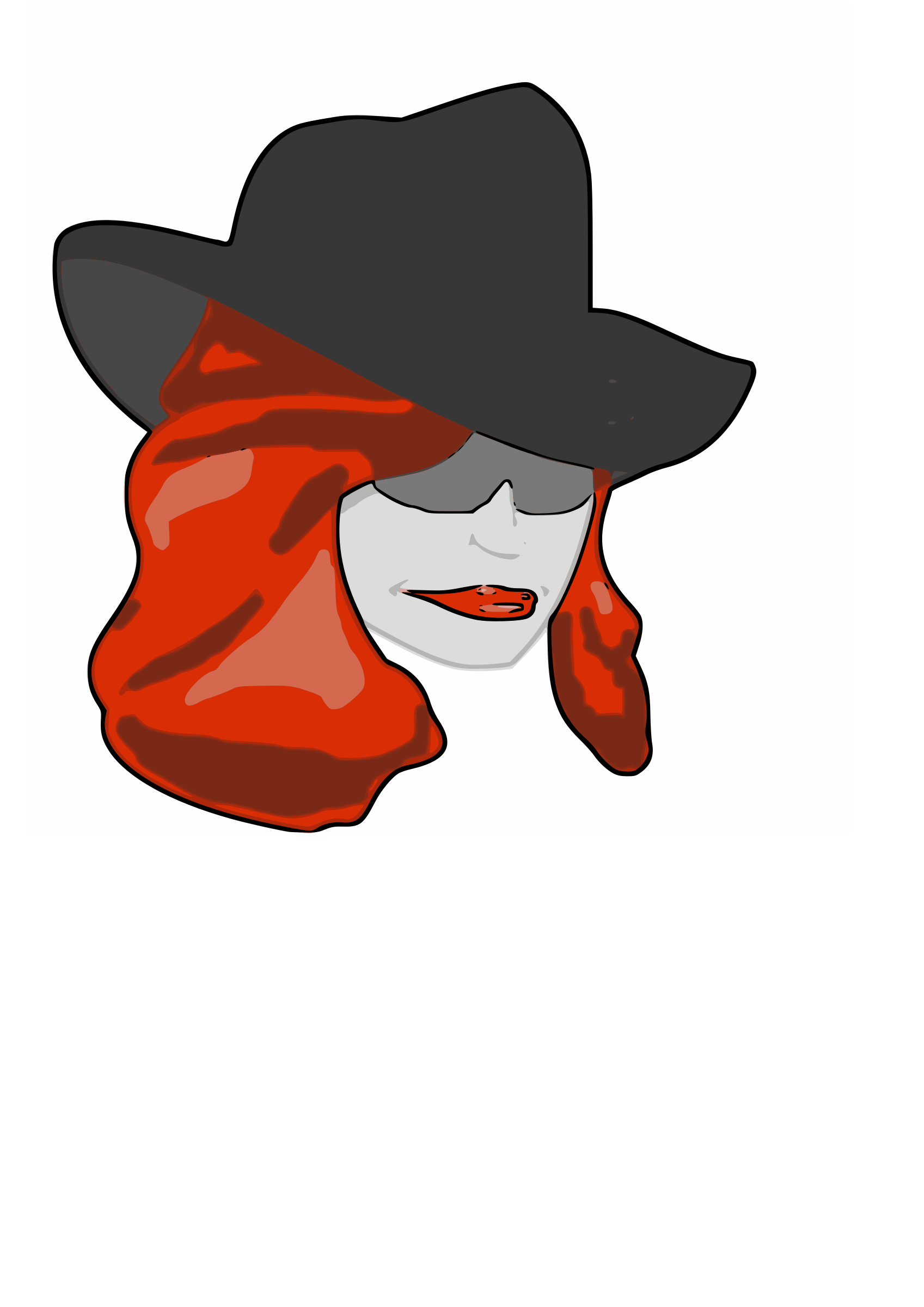 Fox clipart detective. Female big image png