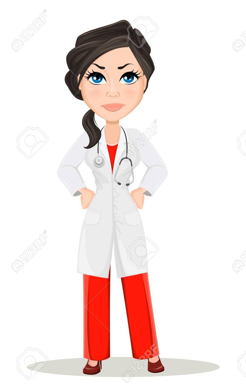 For of a clip. Girl clipart doctor