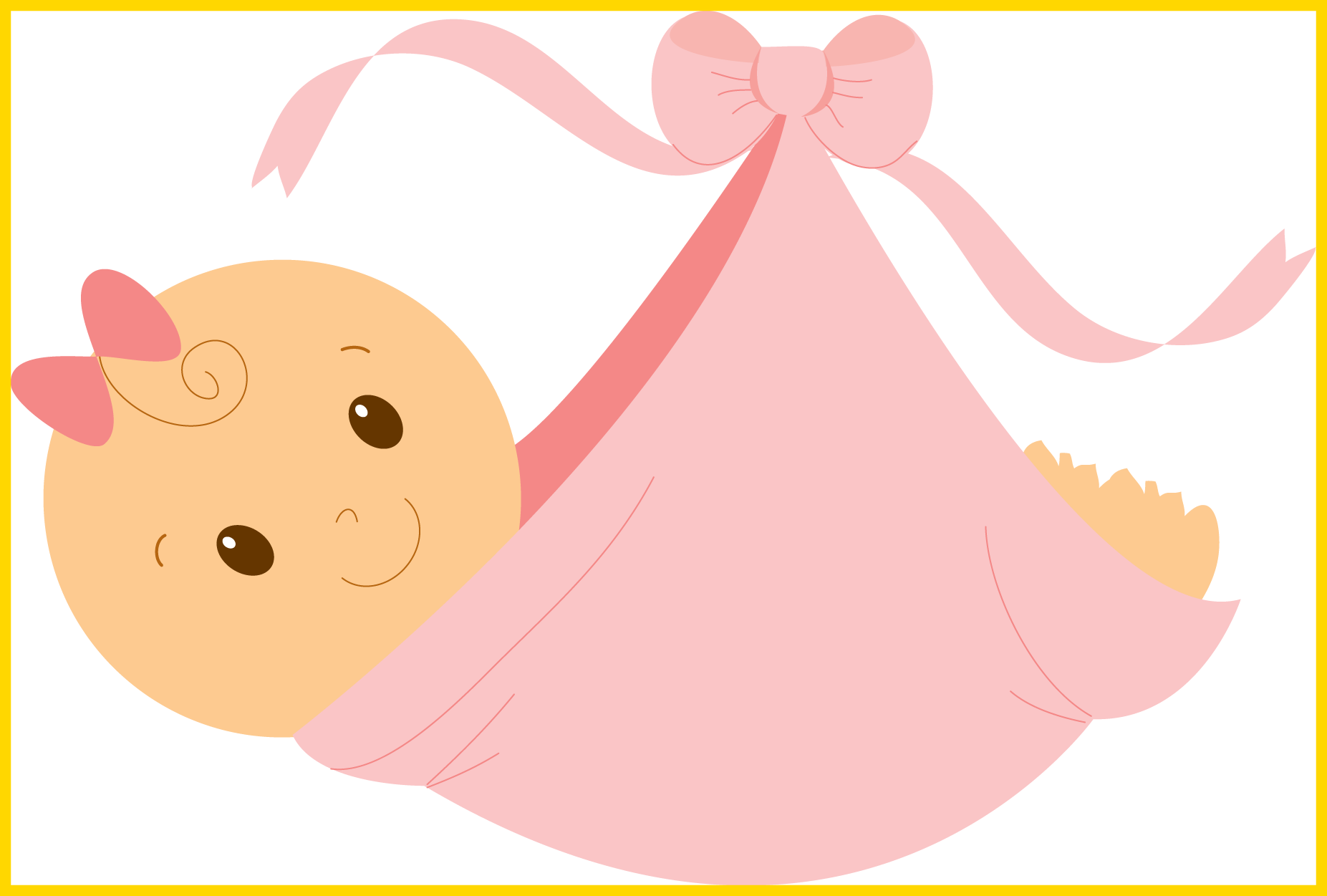 Shocking pink baby ideas. Girl clipart dress