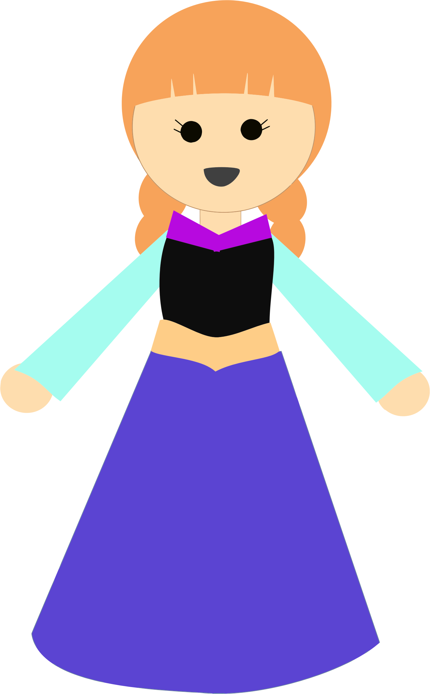Girl clipart dress. In a big image