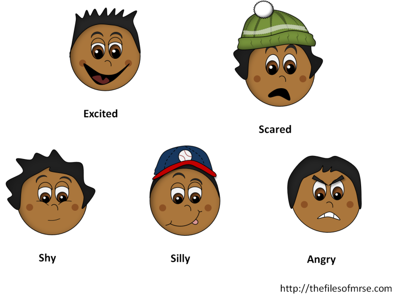 Group related images. Emotions clipart jealous