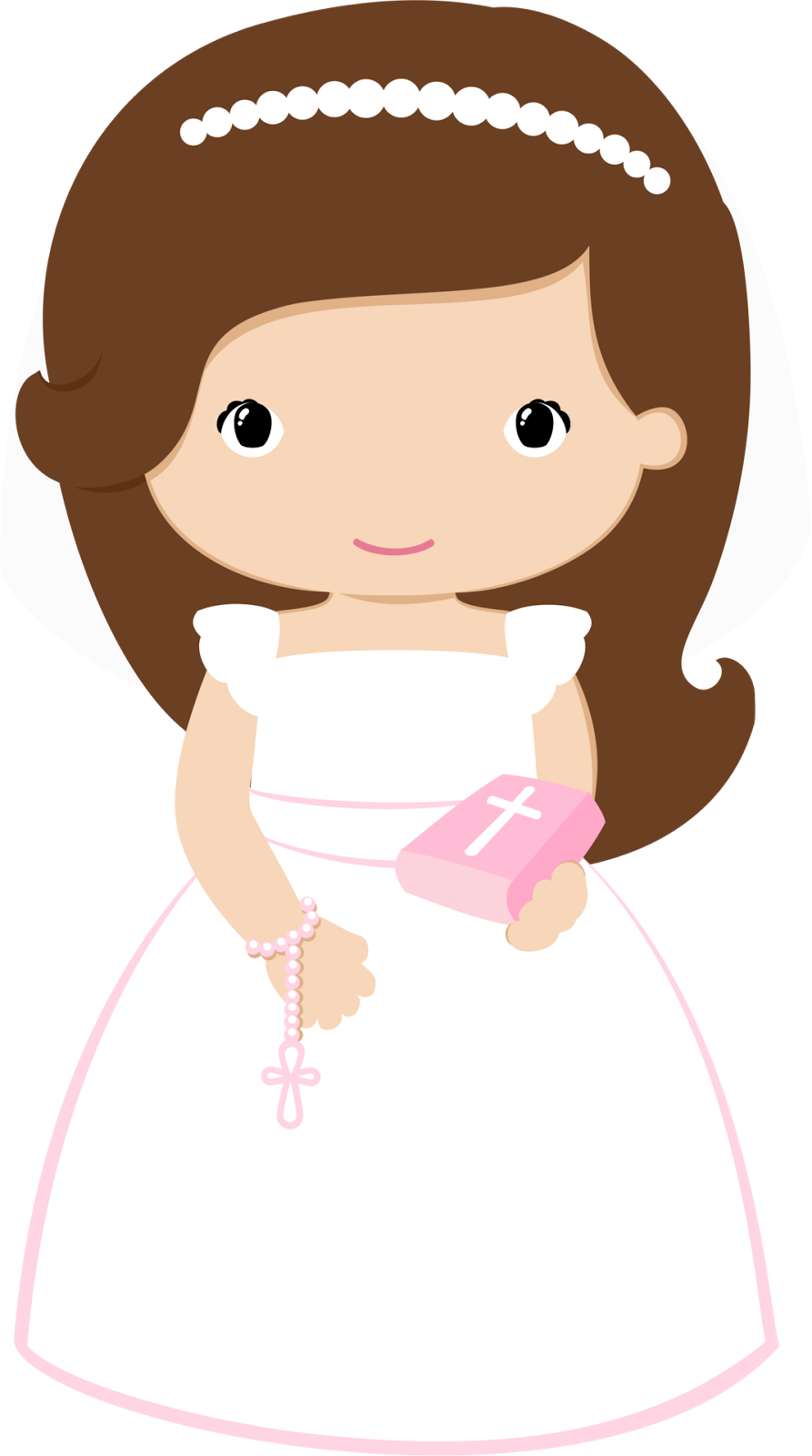 Girls in pink for. Fist clipart child