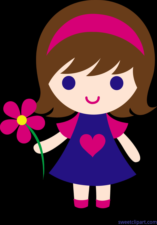 Little flower clip art. Patient clipart girl patient
