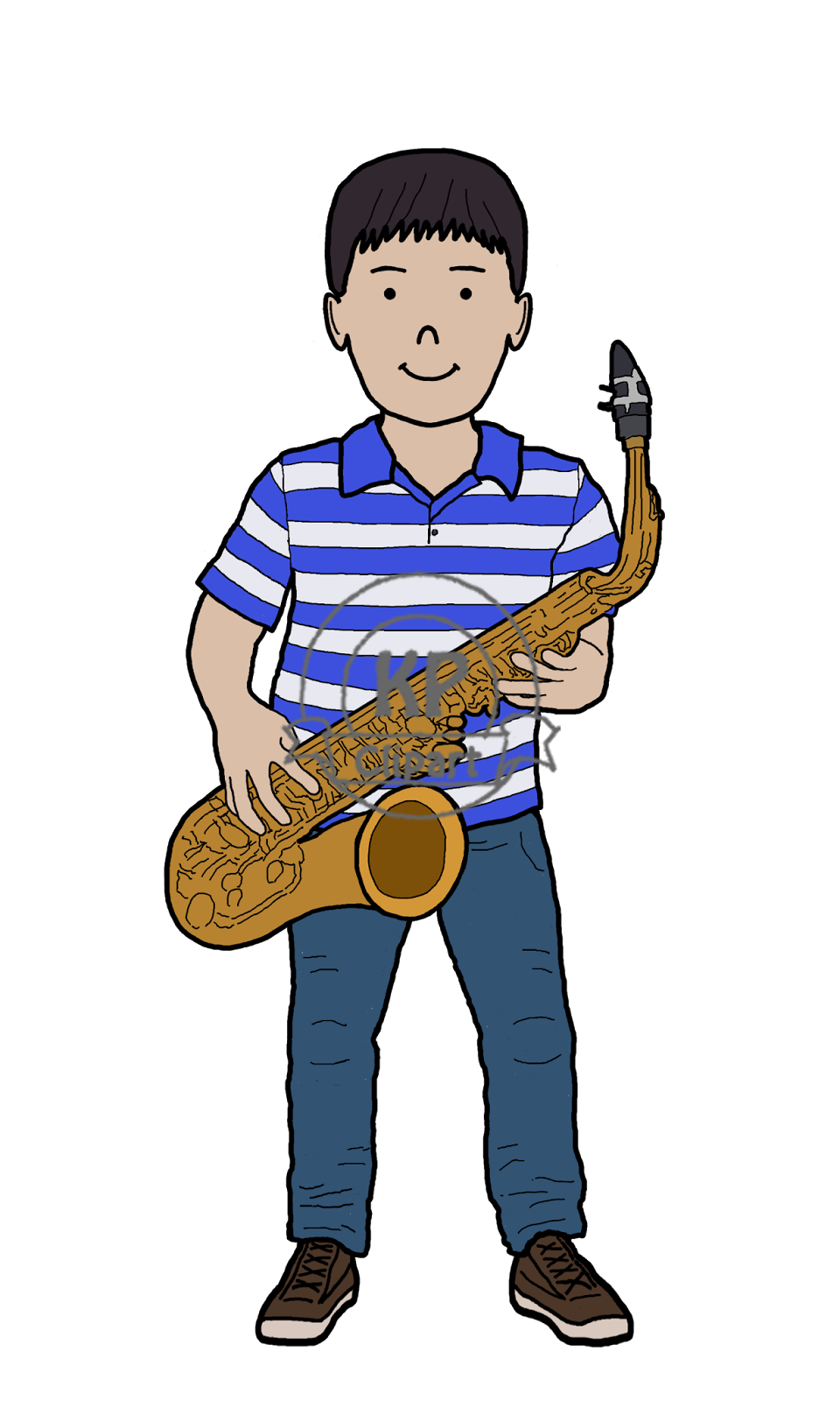 Clipart guitar boy. Kp friends playing music