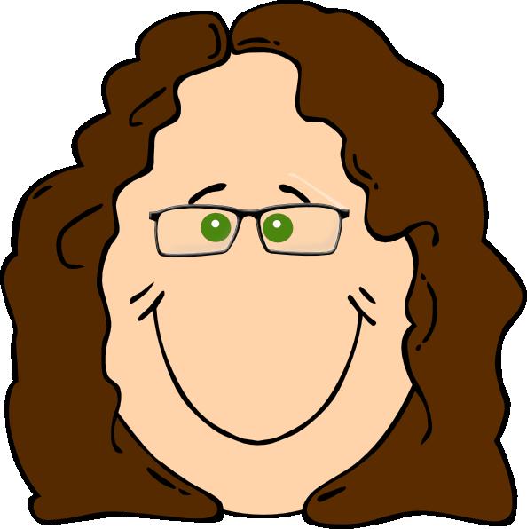 Glasses girl clip art. Hair clipart glass