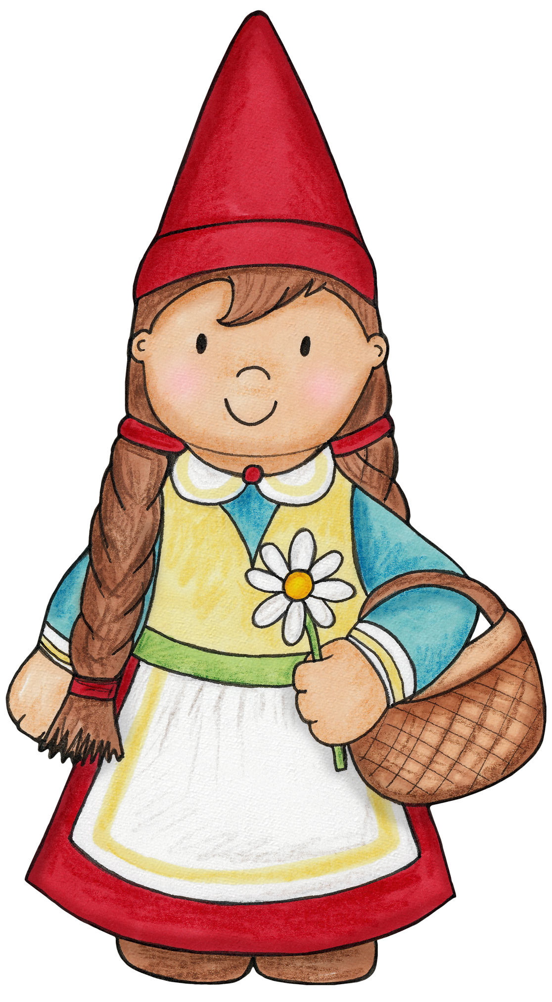 Gardener clipart little girl. Gnome for a woodlands