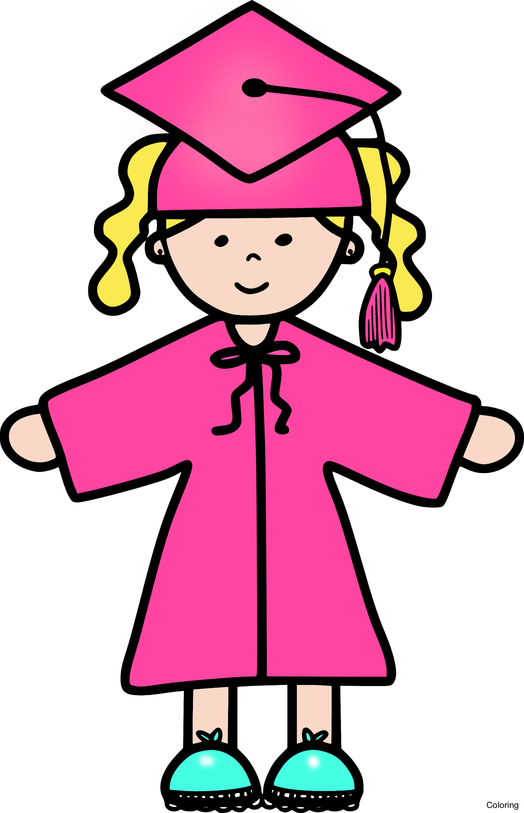 collection of graduation. Record clipart pink